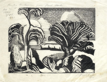 Paul Nash-Untitled, for New Year 1921, Simon Rodd, the Fisherman-1921