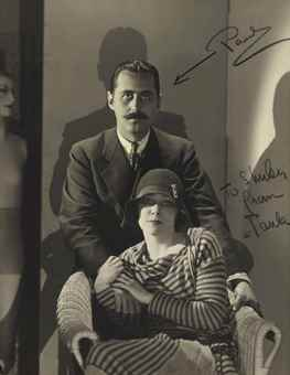 Paul Outerbridge-Self Portrait with Wife Paula, Paris-1927