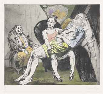 Paula Rego-After Hogarth IV-2000