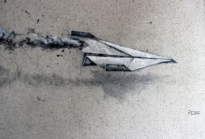 Pejac, Icarus, street art, South Korea, Seoul, 2015