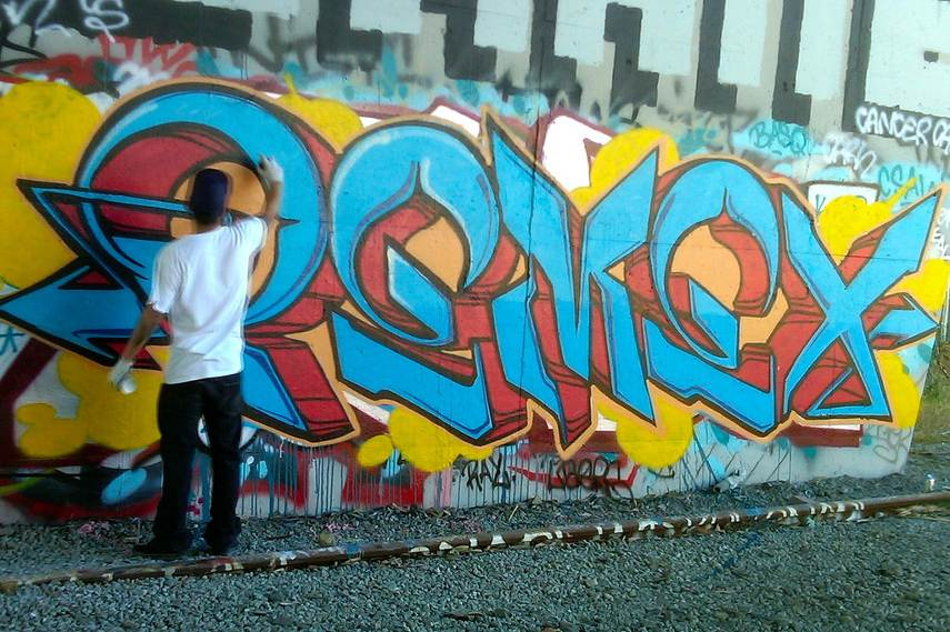 check street paint in oakland to view on video posts