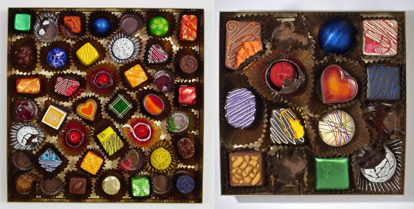 Peter Anton - Glamorous Assortment - 2011 (Left) / Grand Hedonistic Assortment - 2007 (Right)