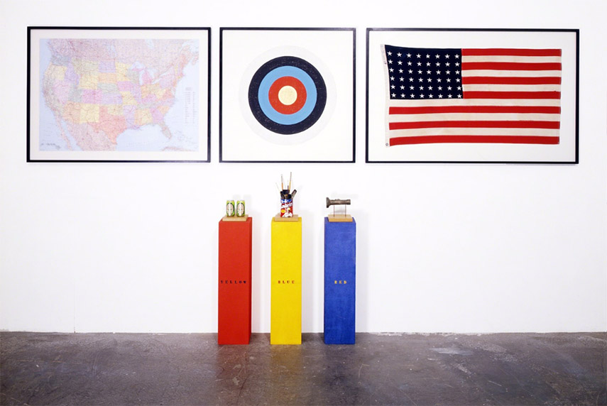 Peter Blake - H.O.M.A.G.E. J.J. (a homage to Jasper Johns), 1995
