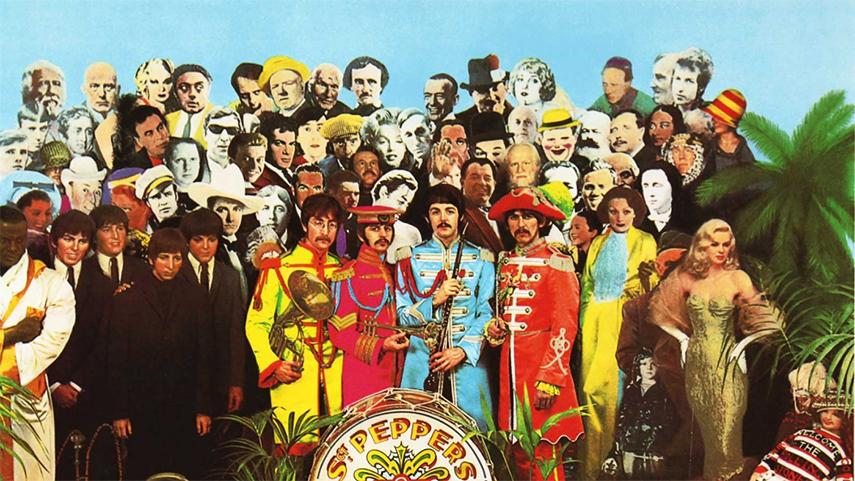 Peter Blake - Sgt Pepper Beatles Cover, 1967 - image via hypergallerycom