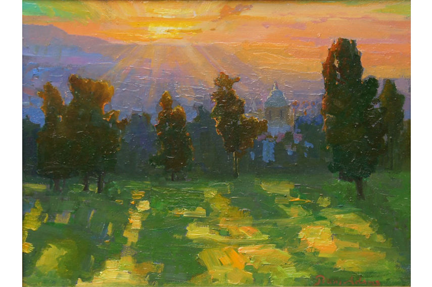 Peter Seitz Adams - Sunrise and Long Shadows view canvas