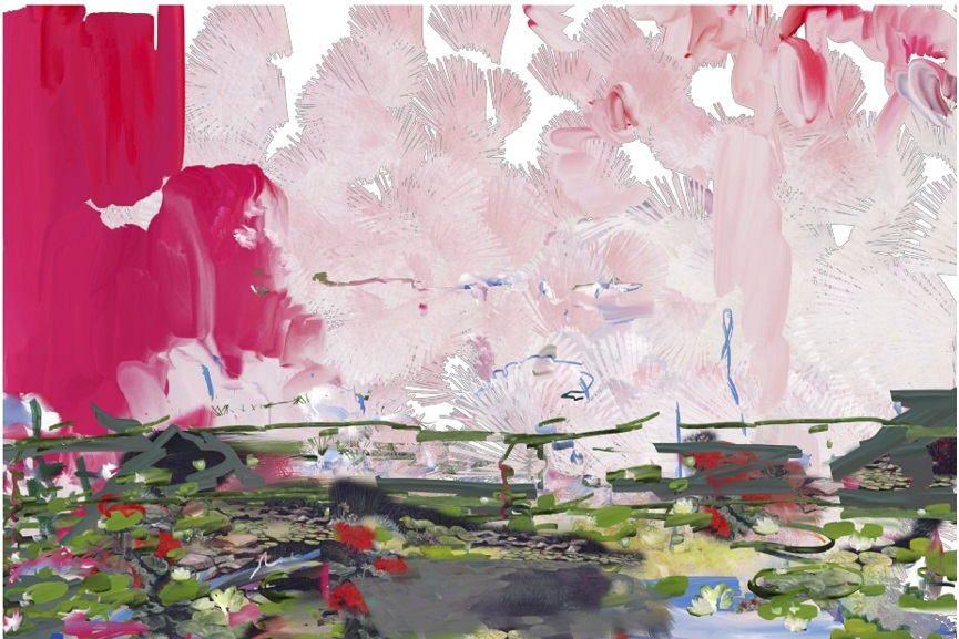 Petra Cortright - Rainbow Six Cheats, 2014, detail.