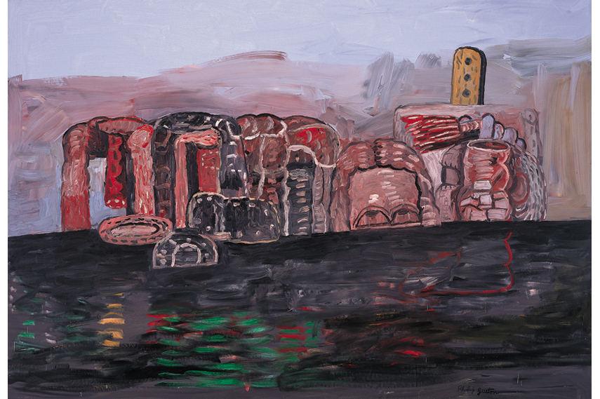 Philip Guston - Wharf 1976 - Image via Themodern org