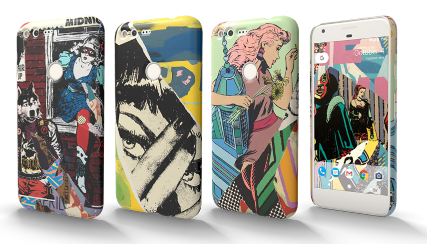 The phone design is a wonderful mix of their street and studio works