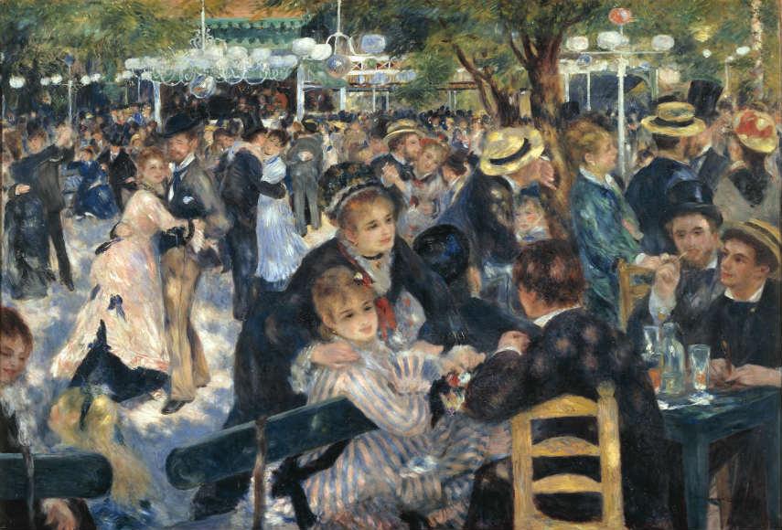 Pierre-Auguste Renoir - Dance at Le Moulin de la Galette, 1876, Image via enwikipediaorg works portrait life century paris claude