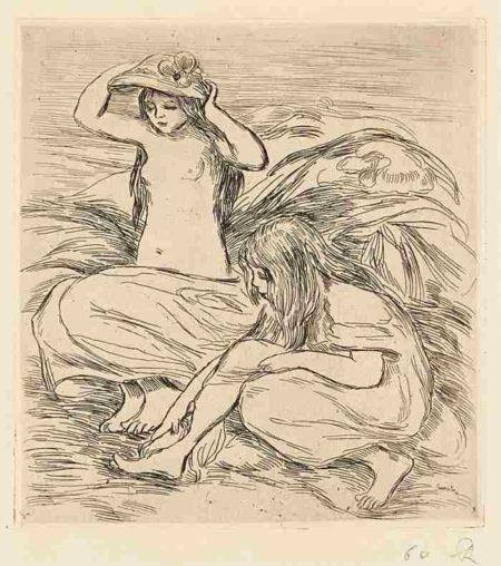 Pierre-Auguste Renoir-Les deux baigneuses (Two Bathers)-1895