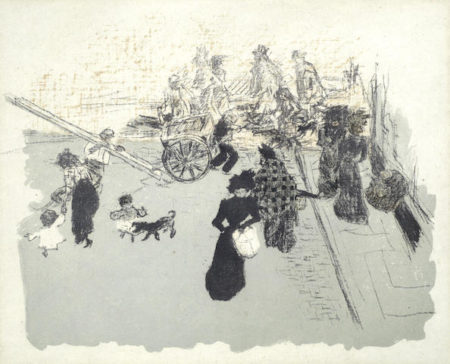 Pierre Bonnard-Coin de rue, from from Quelques aspects de la vie de Paris-1899