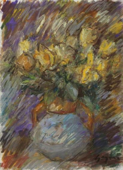 Pierre Gogois-Fleurs jaunes-