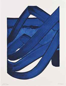 Pierre Soulages-Composition, from The Official Arts Portfolio of the XXIVth Olympiad, Seoul, Korea-1988
