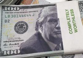 donald trump fake dollars