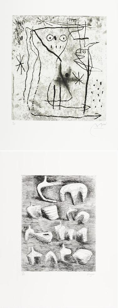 Marc Chagall-Henri Matisse-Zao Wou-Ki-Georges Braque-Henry Moore (1831-1895)-Jacques Villon-Lynn Chadwick-Marino Marini-Pablo Picasso-Max Ernst-Joan Miro-Jean Arp-Portfolio - Trente ans d'activite, Geneva, Gerald Cramer-1971