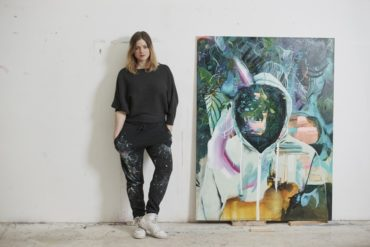 Julia Benz and Her Beautiful Colorful Art Soon at Die Kunstagentin
