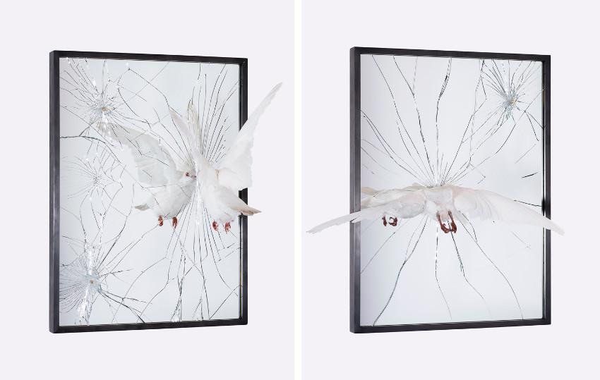 Pryce Lee - Rebels Call, 2015 (Left) - Pulverised, 2015 (Right), bullet, york