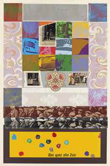 RB Kitaj-Die Gute Alte Zeit, from: Struggle in the West: The Bombing of London-1969