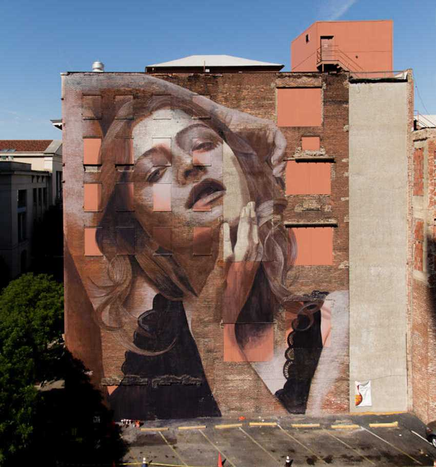 RONE - Mural in Nashwille, Tennessee