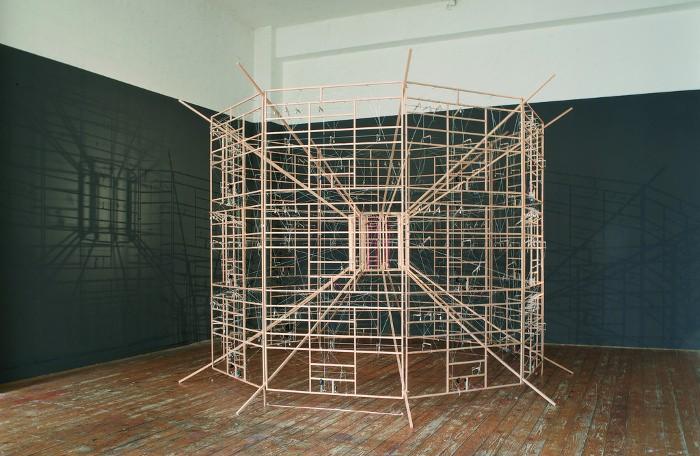 Ralf Baecker - Inverted Machine - Installation view, Moltkerei Werkstatt Cologne, 2007, computer art