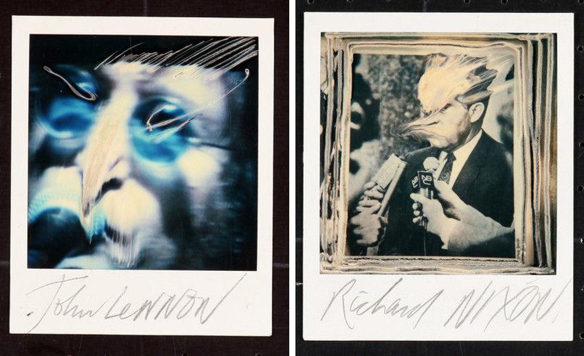 Ralph Steadman - John Lennon (Left) - Richard Nixon (Right), images via getherstorenvycom
