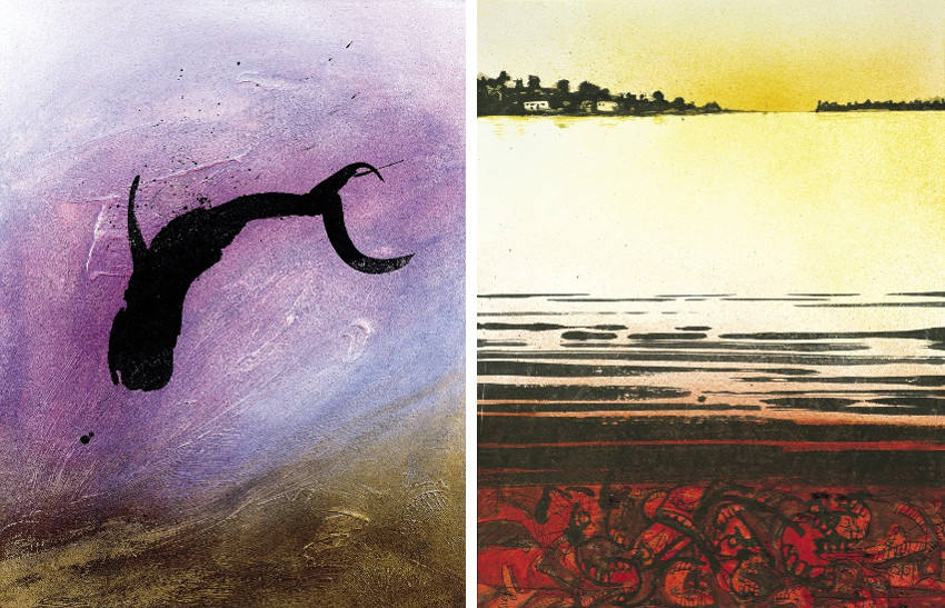 Ralph Steadman - Whale (Left) - Still Waters (Right)