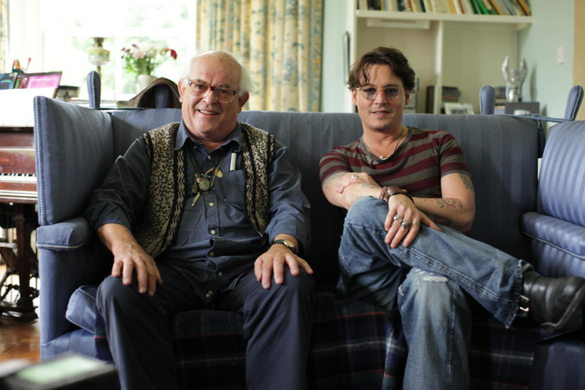 Ralph Steadman - with Johnny Depp in For No Good Reason, photo credits Sony Pictures Clasics
