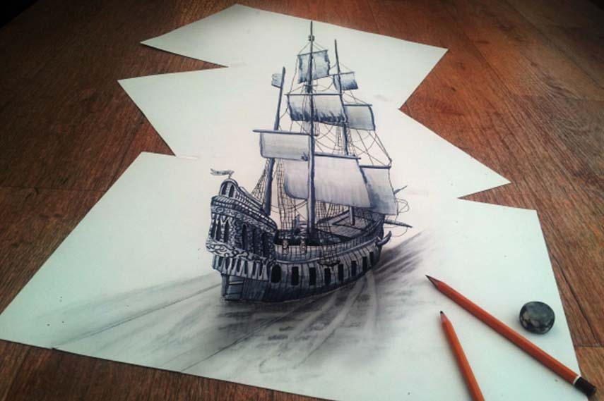 3D Pencil Drawings draw video page videos design