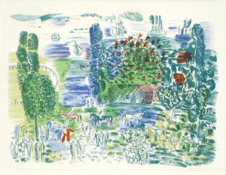 Raoul Dufy-Avant les Courses, Deauville-1950