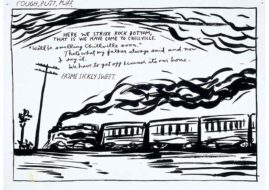 deichtorhallen hamburg drawings exhibition contemporary art Raymond Pettibon - No title, 1986, Pen and ink on paper