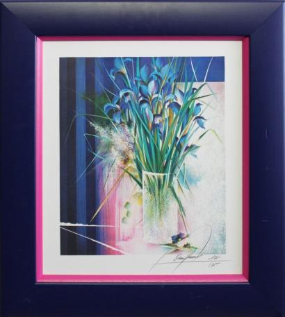 Raymond Poulet-Vase d'iris-