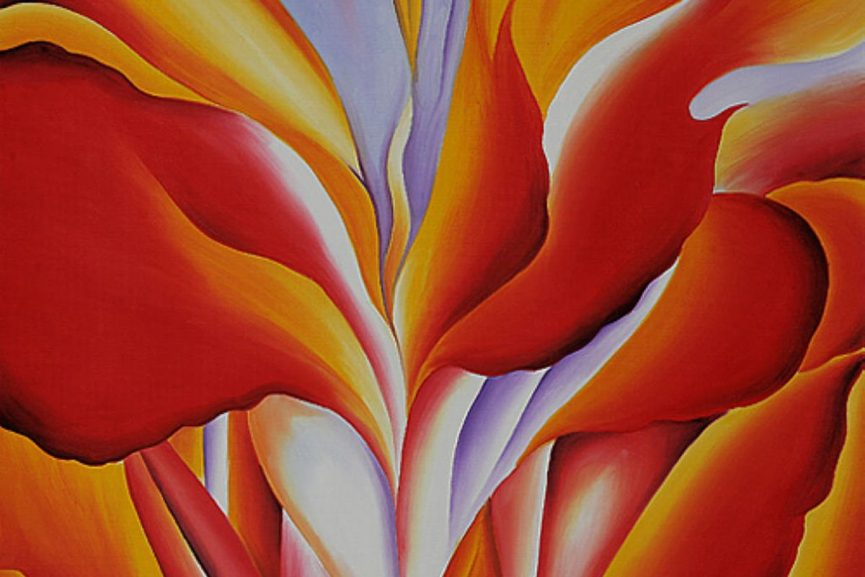 Red Canna, 1924 (detail)