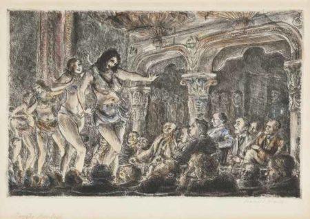 Reginald Marsh-Gaiety Burlesk-1929