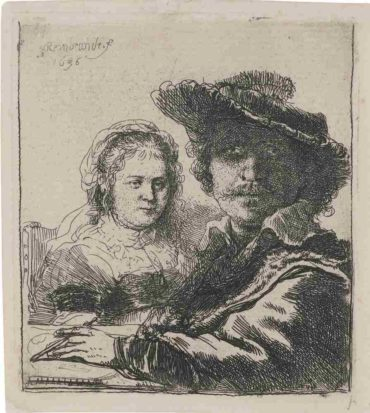 Rembrandt van Rijn-Self Portrait With Saskia-1636