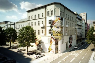 Rendering of the URBAN NATION MUSEUM FOR URBAN CONTEMPORARY ART Berlin © GRAFT