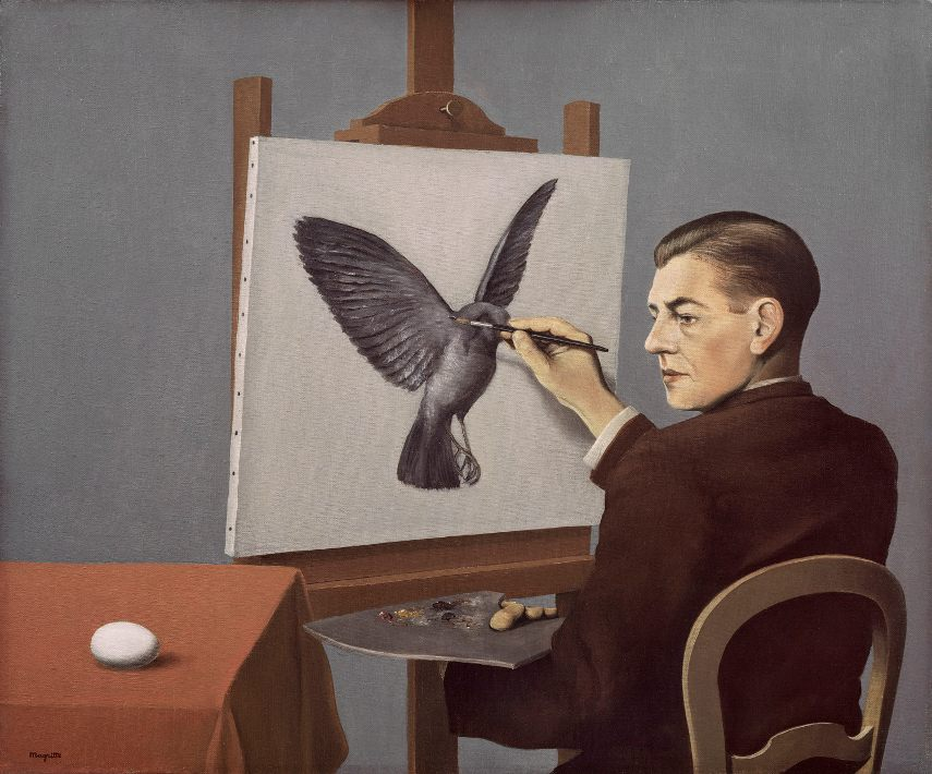 Rene Magritte - Clairvoyance, 1936