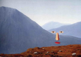 the surrealism piece executed with techniques typical for the movement