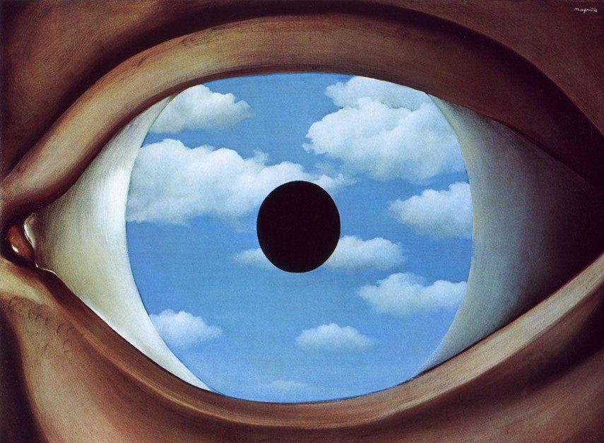 Rene Magritte - The False Mirror, 1928
