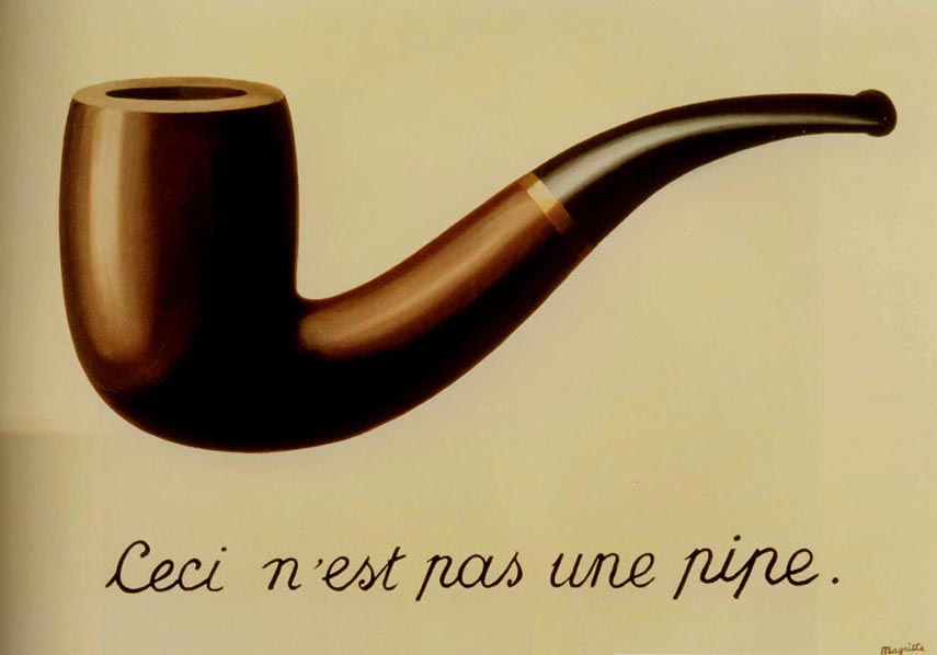 Rene Magritte - The treachery of images, 1929