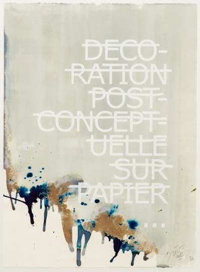 Rero-Decoration Post Conceptuelle Sur Papier-2012