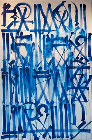 Retna-Untitled (White and Blue)-2011