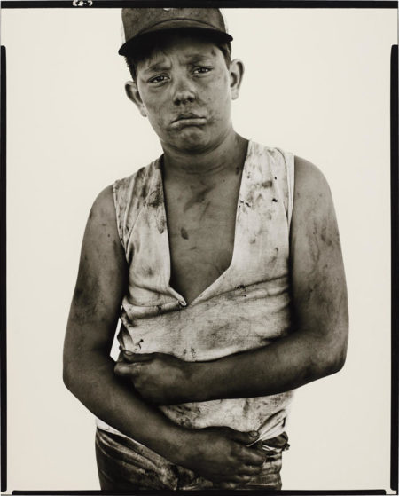Richard Avedon-Bubba Morrison, oil field worker, Albany, Texas, June 10-1979