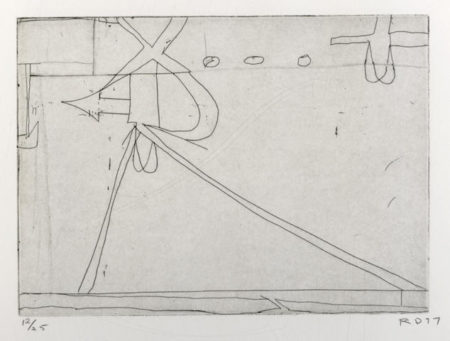 #6 from Nine Drypoints and Etchings-1977