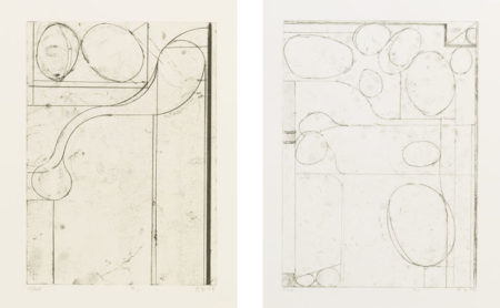 Richard Diebenkorn-Six Softground Etchings: Plates I, II, III & V-1978