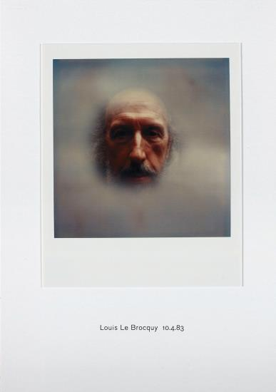 Richard Hamilton-Polaroid Portrait, Louis Le Brocquy 10.4.83-2010
