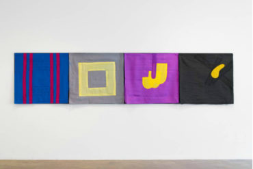 Geometric Abstraction of Richard Tuttle Art in Fabric Coming to Pace London