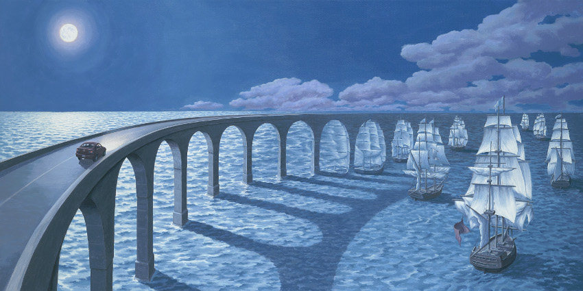Rob Gonsalves - Toward the Horizon, image courtesy of Marcus Ashley Gallery, paintings, rob, gonsalves