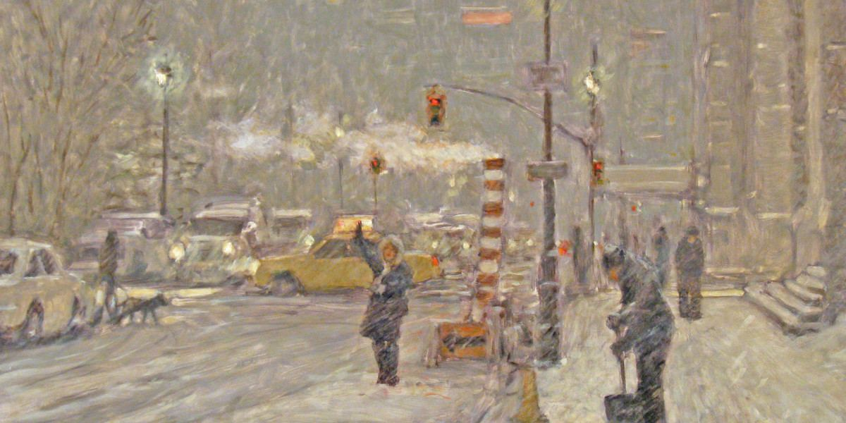 Robert Beck - Blizzard (detail), contemporary painting