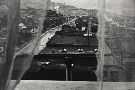 Robert Frank-Luncheonette - Butte, Montana (View From Hotel Window)-1956