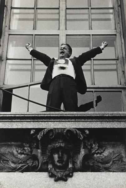 Robert Frank-Chicago (Political Rally)-1956